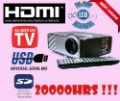 HDMI 1080i LCD USB SD mini Projector LED Lamp 20,000hs GOOD QUALITY, FREE SHIPPING