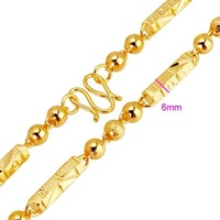 Колье-ошейник QUALITY 18KGP YELLOW GOLD 460MM MEN'S CHOKERS NECKLACES, COME WITH A EXQUISITE GIFT BOX