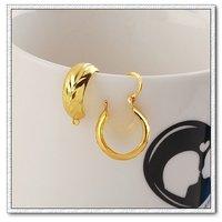 Joyería de moda pendientes, de cobre con baño de oro de 18 quilates pendientes, aretes, Gastos de envío gratis (China (continental))
