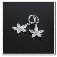 Cuelgan aretes de cristal, del cobre platinado con joyas, pendientes de moda, Gastos de envío gratis (China (continental))