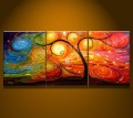 Abstract Huge Landscape Oil Painting-Tree Art Guaranteed 100% Free shipping