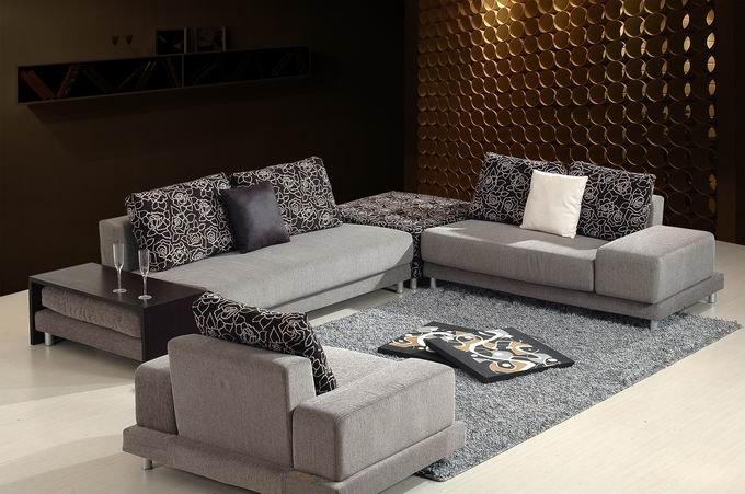 Whole sale Modern design high quality fabric sofa set 1008