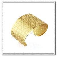 Pulsera de estilo europeo, de cobre con brazalete de oro 18k, brazalete de bisutería, Gastos de envío gratis (China (continental))