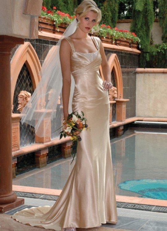 ivory spaghetti strap bridal
