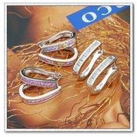 Pendientes de aro, de cobre con aretes de platino plateado circón, pendientes de piedras preciosas, Gastos de envío gratis (China (continental))