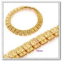 Moda joyas pulsera, brazalete de señora, de cobre con oro 18k pulsera, cadena y pulsera de Enlace, envío gratis (China (continental))