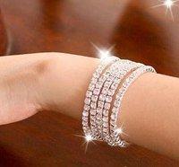 Nueva marca de moda pulsera sola fila, de aleación de pulsera pulseras de plata (China (continental))