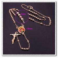Moda cruz colgante de collar, collar de cobre con baño de oro 18k, Gastos de envío gratis (China (continental))