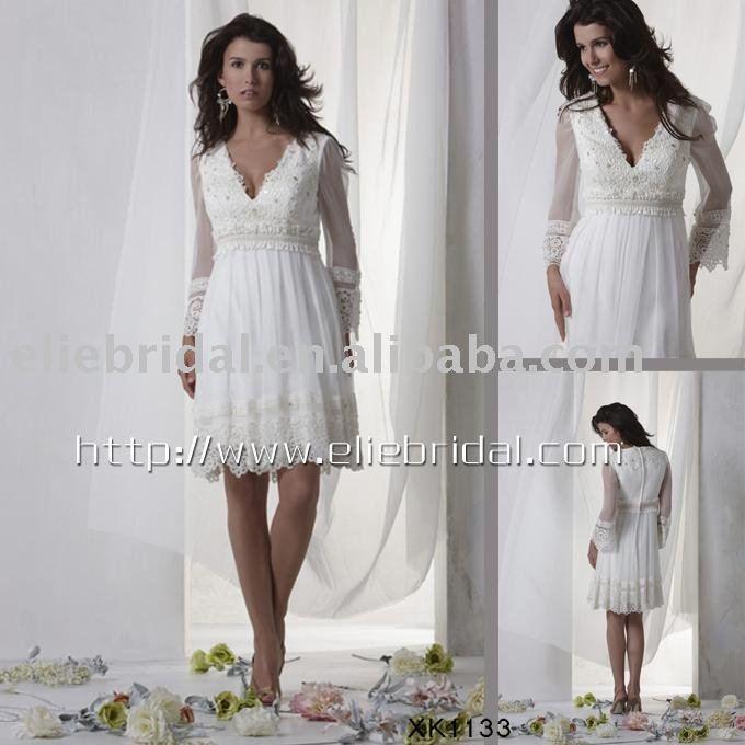 Wholesale 2011 High quality short chiffon lace bridal wedding dresswedding