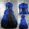 Freeship@Einzig@ Victorian Corset Gothic@Civil War Southern Belle Ball Gown Dress @ Halloween dresses US 4-16 V-11