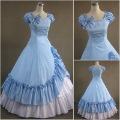 2014 New design Victorian Corset Gothic/Civil War Southern Belle Ball Gown Dress Halloween dresses Sz US 6-26 XS-6XL V-38