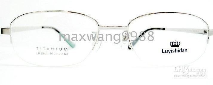 2010 Best sellers Myopia Reading Unisex 's Titanium Fashion Silver GS45 Eyeglasses Lens Frames