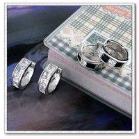 Pendientes de aro de piedras preciosas, cobre, con aretes de platino CZ, pendiente de la moda, Gastos de envío gratis (China (continental))