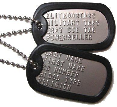 dog tags army. dog tags.