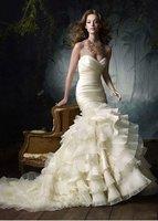 Великолепная Русалка без бретелек вышивки дизайнер Свадебные платья Свадебное платье