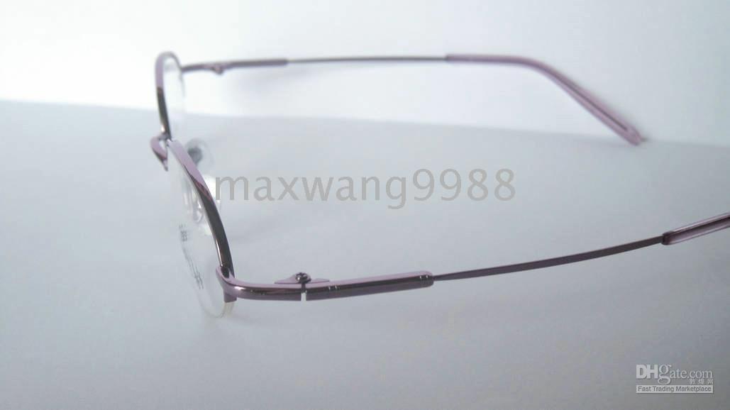 2010 Best GS2-72 Eyeglasses Lens Frames Myopia Reading women 's Bendable Metal Fashion pink