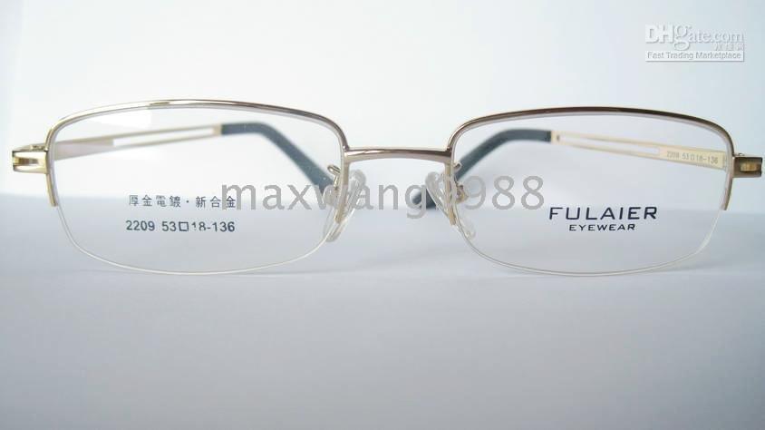 2010 Best Fashion Eyeglasses Lens Frames Myopia Reading men 's Metal Fashion gold GS2-60