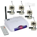 2.4GHz 4 Channel Receiver & 4 Color CMOS Wireless Cameras Security System