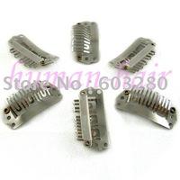 15inch 38cm Remy Clips hair extension #12/613 mix color 70gram containing 7pieces/set