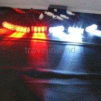 44 LED Flash Car Police Strobe Dash Grill Light Red