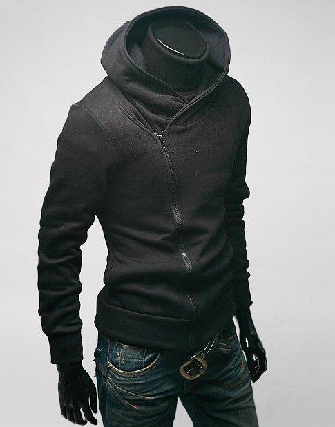 Black hood jacket