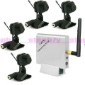 2.4GHz Wireless 4 Channels Receiver 2.4GHz Receiver & 4 Color CMOS Wireless Cameras Security CCTV System
