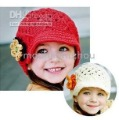 Baby Cap Hat kids children&#39;s baby hats cotton black headgear flower