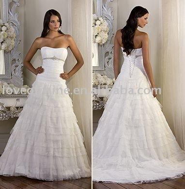 Wholesale lichyj1260 2011 new style romantic wedding dressdesigner bridal