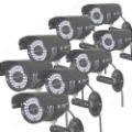 Free Shipping 8pcs 480TVL Sony CCD Waterproof IR Surveillance CCTV