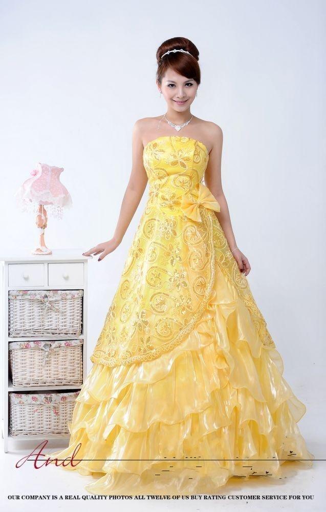 Yellow lemon sunshine dreams on pinterest quinceanera for Yellow dresses for weddings