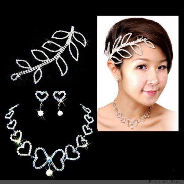 Set chain necklace bridal wedding dress accessories put up to cm