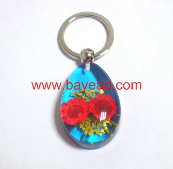 Real flower lucite keychains,cute keyring,novel keyring,advertising ...