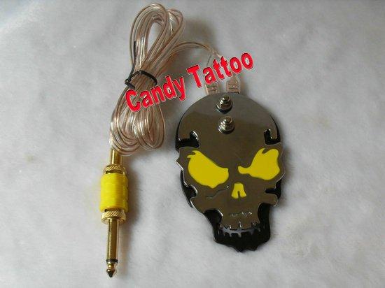 Skull Tattoo Gun. Skull tattoo foot switch