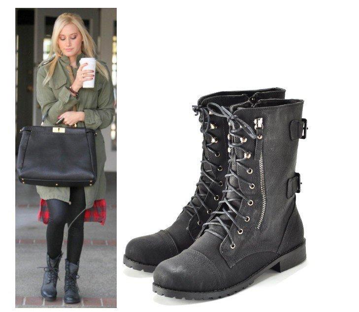 Ladies Combat Boots Fashion - Boot Hto