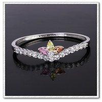 Corona Pulsera, con brazalete de cobre platinado, Joyería CZ pulsera, envío gratis (China (continental))
