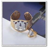 Pulsera de moda, pulseras, un brazalete de cobre con baño de oro rosa, Joyería CZ pulsera, envío gratis (China (continental))