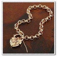 Bolso de la manera joyas pulsera, brazalete de cobre con oro 18k, Link y pulsera de cadena, envío gratis (China (continental))