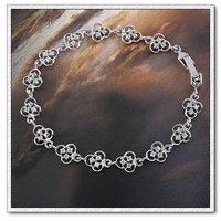 Moda CZ brazalete de cobre con el platino brazalete plateado Link, y pulsera de cadena, joyas pulsera del encanto, Gastos de envío gratis (China (continental))