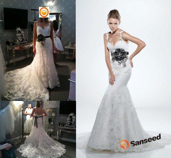 Cameron Diaz Hair Lace Wedding Dress 2011