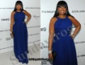 Custom Made Jennifer Hudson Oscar Red Carpet Celebrity Dress Halter Chiffon Empire Evening Dresses Elegant Formal Gown