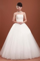 Free shipping 2011 new fashion designer wedding dress bridal gown tulle mermaid long dress sexy women designer dress