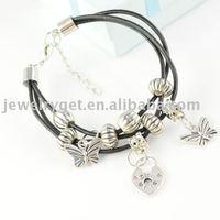 Браслет Multi Layered Design Polymer Clay Bracelets, Leather Bracelet, Mens Jewellery, BR-1156