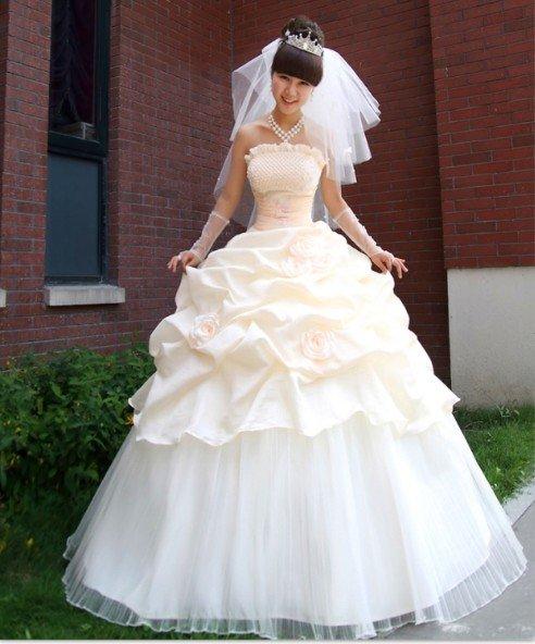 Wholesale High grade champagne marriage gauze ancient Greek wedding dress