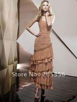 Платье знаменитостей 100%gurantee beading spaghetti strap latest designer v-neck celebrity dresses