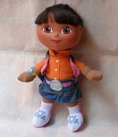 Free Shipping High Quality Soft Plush Cute Dora the Explorer Dora With Backpack Plush Dolls Toy Wholesale and Retail