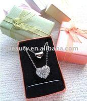 Шкатулка для хранения ювелирных изделий 6.5*5*2.5cm Fashion Paper Jewelry Pendant Box