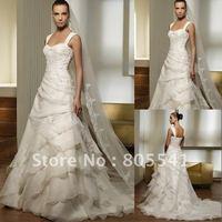 Свадебное платье Elegant High Quality A-line Sweetheart Taffeta with Handmade Flowers Wedding Gown MASO-A3467