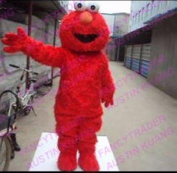 High Quality Long Fur Elmo Mascot Costume Character Costume Cartoon Costume Free Sample FT20048