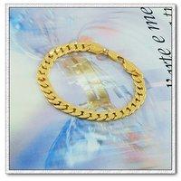 Simple pulsera, brazalete de cobre con oro 18k, Link y la cadena de pulsera, joyas pulsera de moda, Gastos de envío gratis (China (continental))