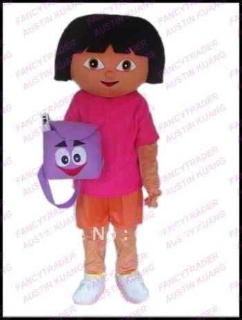 Highly Quality Wholesale Super Cute Dora The Explorer Mascot Costume Hallween Costume Christmas  ...